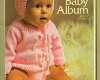 Bernat Handicrafter Book 187 BABY ALBUM Knitting & Crochet Patterns 1970s