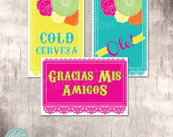 Fiesta Party 4x6 Signs Instant Download by Beth Kruse Custom Creations