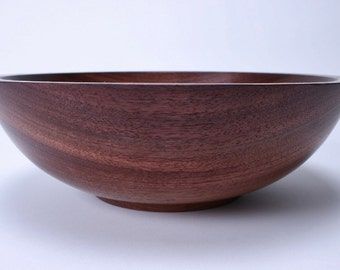 "Purpleheart Wooden Salad Bowl #1383 11"" X 3 7/8"""