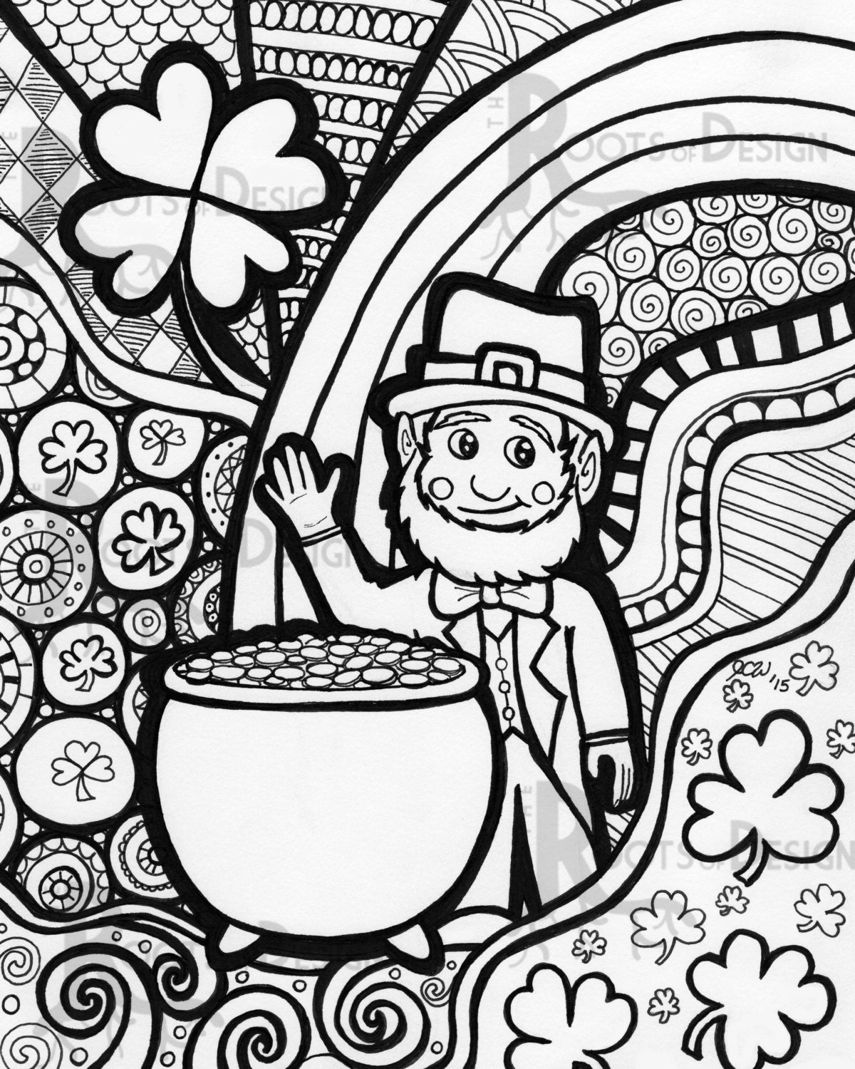 INSTANT DOWNLOAD Coloring Page St. Patrick's Day by ...