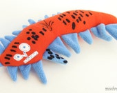 Custom plush animal from a kid's drawing Stuffed toys from artwork Worm softie  - MADE TO ORDER