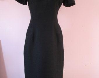 1950's Black Pencil Dress