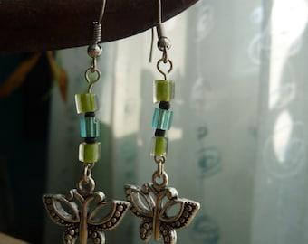Beaded Butterflies Earrings