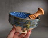 Custom Listing For Erik Chawan Dottie Shaving Bowl With Handle by Symmetrical Pottery