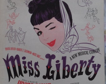 1949 Just One Way To Say I Love You Miss Liverty Irving Berlin Song Book Sheet Music