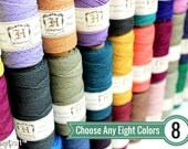 1mm Hemp Twine, 8 Spool Deal, Choose Your Colors, Polished Hemp Craft Cord