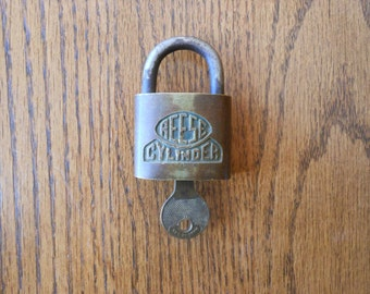 Vintage Reese Cylinder Brass Padlock