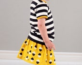 Circle skirt sewing pattern pdf download, pattern and photo instructions sizes 0-3M to 5-6T, pattern 81