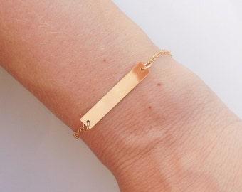 Gold Bar Bracelet - Layered Bracelet