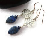Blue Lapis Earrings, Genuine Lapis, Blue Gemstone, Blue Stone Earrings, Sterling Silver Jewelry, Semi Precious, Lapis Lazuli, Dangle