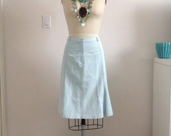 Vintage Tocca Mint Green Cotton Twill Skirt