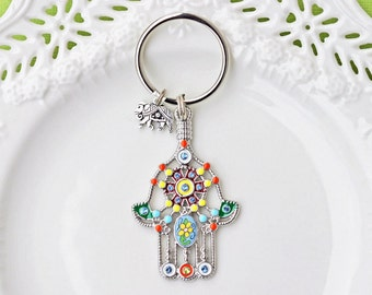 Hamsa Hand Keychain, Hamsa Keychain, Decorative Keychain, Hamsa Hand, Hamsa Key Ring, Hamsa Hand Key Ring, Hamsa, Decorative Key Ring