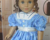 18 Inch Doll Clothes for American Girl Dolls - A Spring Dress for Cecile, Marie-Grace, Addy, or Kirsten