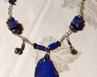 BLUE AGATE & LAPIS necklace