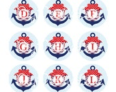 Anchor Initials Bottlecap Images Nautical Monogram Bottle Cap Initials Nautical Anchor Bottlecap Sailor Anchor Initials Bow INSTANT DOWNLOAD