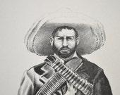 Art Print Sketch Cowboy by Bob Dale 1972 Vintage Art