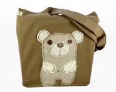 Bear Tote Bag Handmade Tote Bag