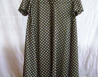 vintage dress, black with white polka-dots
