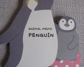 Very Cute Memo Pad/Note Pad From Japan - Penguin 45