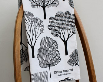 Woodland Tea Towel (White)