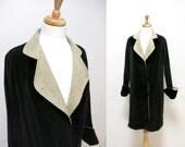 SALE-1920s Velvet Flapper Coat, Size Small - 50% off
