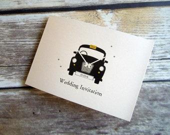 London Taxi /Black Cab Wedding/Evening Invitations - Ready to Write