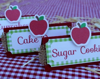 Apple Food Label - Place Card - Apple Picking