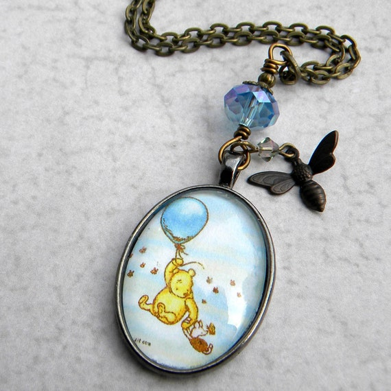 winnie the pooh necklace classic pooh necklace by msemrick