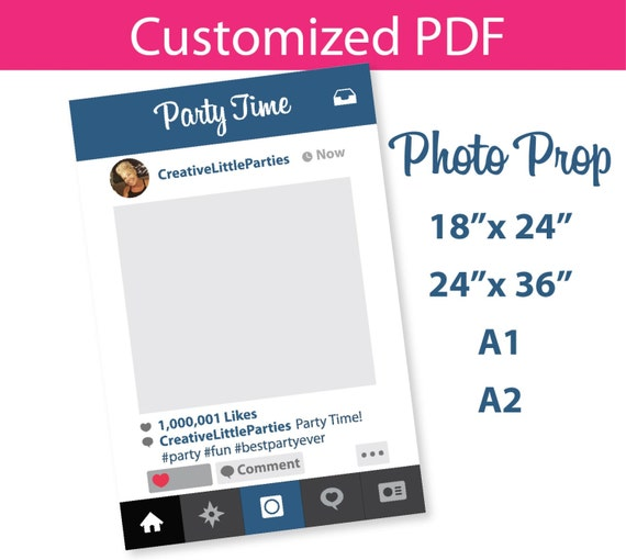 photo prop instagram frame customized template