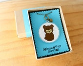 Bear Necklace - Animal Jewelry, Brown Bear Charm, Laser Cut Acrylic, Teddy Bear Pendant, Grizzly Bear Necklace, Animal Lovers, Bearcub Charm