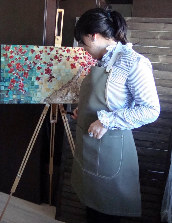 Blue apron junior editor - Hydrophobic 14 Oz Green Canvas Apron Shop Apron Artist S Apron Crafter S Apron Workshop Apron