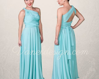 Bridesmaid dress Convertible dress Infinity dress BLUE Wrap dress Formal dress Custom made Long Short dress