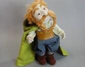 Bombur the Dwarf - OOAK Needle Felted Wool Sculpture - eco wool felt art doll