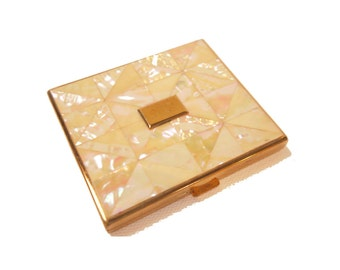 Vintage Compact Mother of Pearl Powder Compact