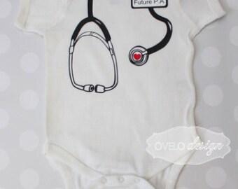 Future P.A. Stethoscope Bodysuit for your Medical Professional, Doctor, Nurse, EMT