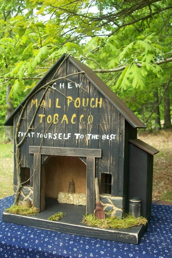 Barn primitive barn primitive birdhouse tobacco barn for Tobacco barn house plans