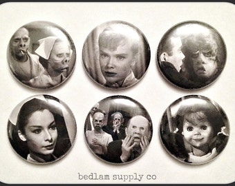 "Twilight Zone Favorites 1"" Button Choose Your Own"