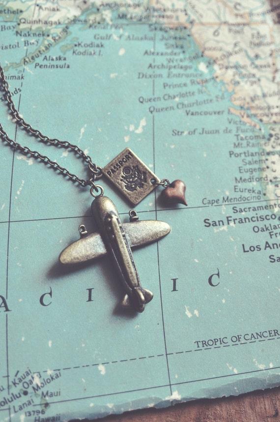 wanderlust necklace.