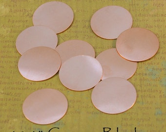18 1 inch 24ga Copper Round Blanks