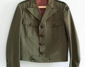 Vintage Timeless Khaki Portuguese Military Jacket