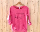 this little piggie went to yoga, Pig Sweater, Pink Sweatshirt, S,M,L,XL