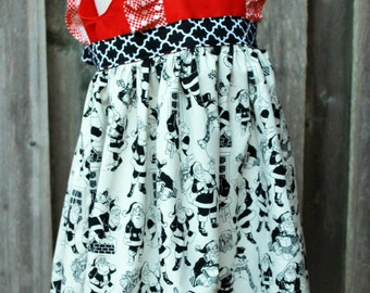 Here Comes Santa Claus Dress Size 5T Ready to Ship