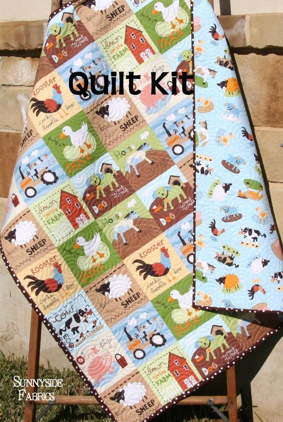 Farm Quilt Kit Boy Or Girl Gender Neutral At The Farm