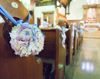 Pastel Pomander with Blue Ribbon