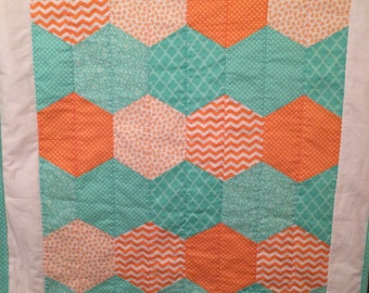 Baby quilt   Baby Girl Quilt, , Crib Bedding, Crib Quilt, Baby Bedding, Nursery
