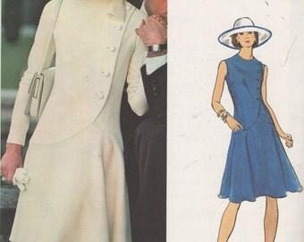 FACTORY FOLDED 1960's Misses' Dress Vogue Couturier Design Fabiani 1065 Size 12 Bust 32 1/2