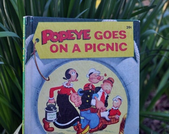 Popeye Goes on a Picnic a Wonder Book published 1958