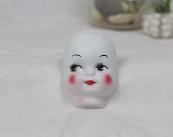 Vintage White Doll Face
