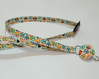 Lanyard - Retractable Badge Lanyard - Breakaway Lanyard - Teacher Gift - Cute Owls
