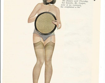 MATURE Vintage 1968 Don Lewis Pinup Girl from by fromjanet
